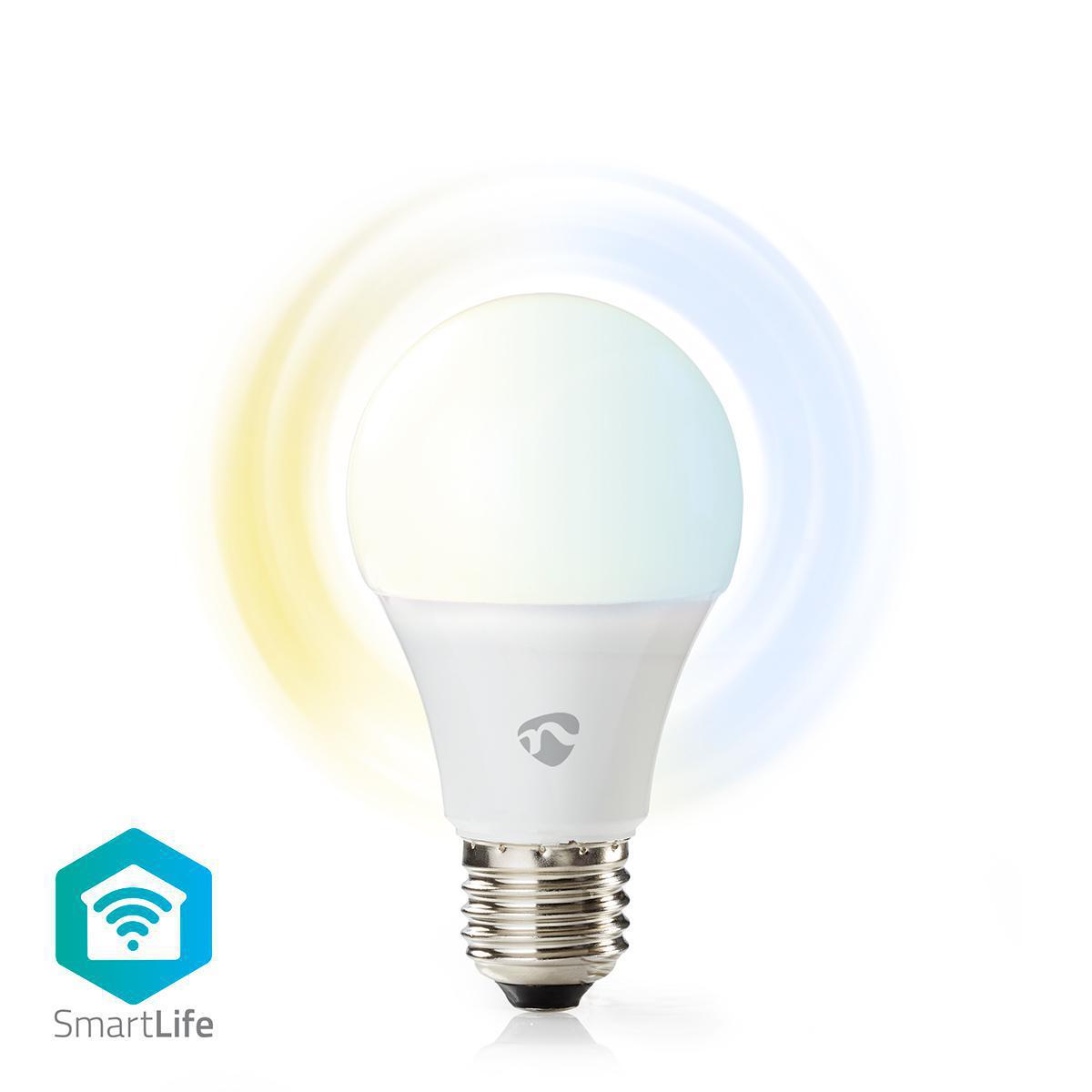 Smart LED pære med Wi Fi | Varm til kold hvid | E27