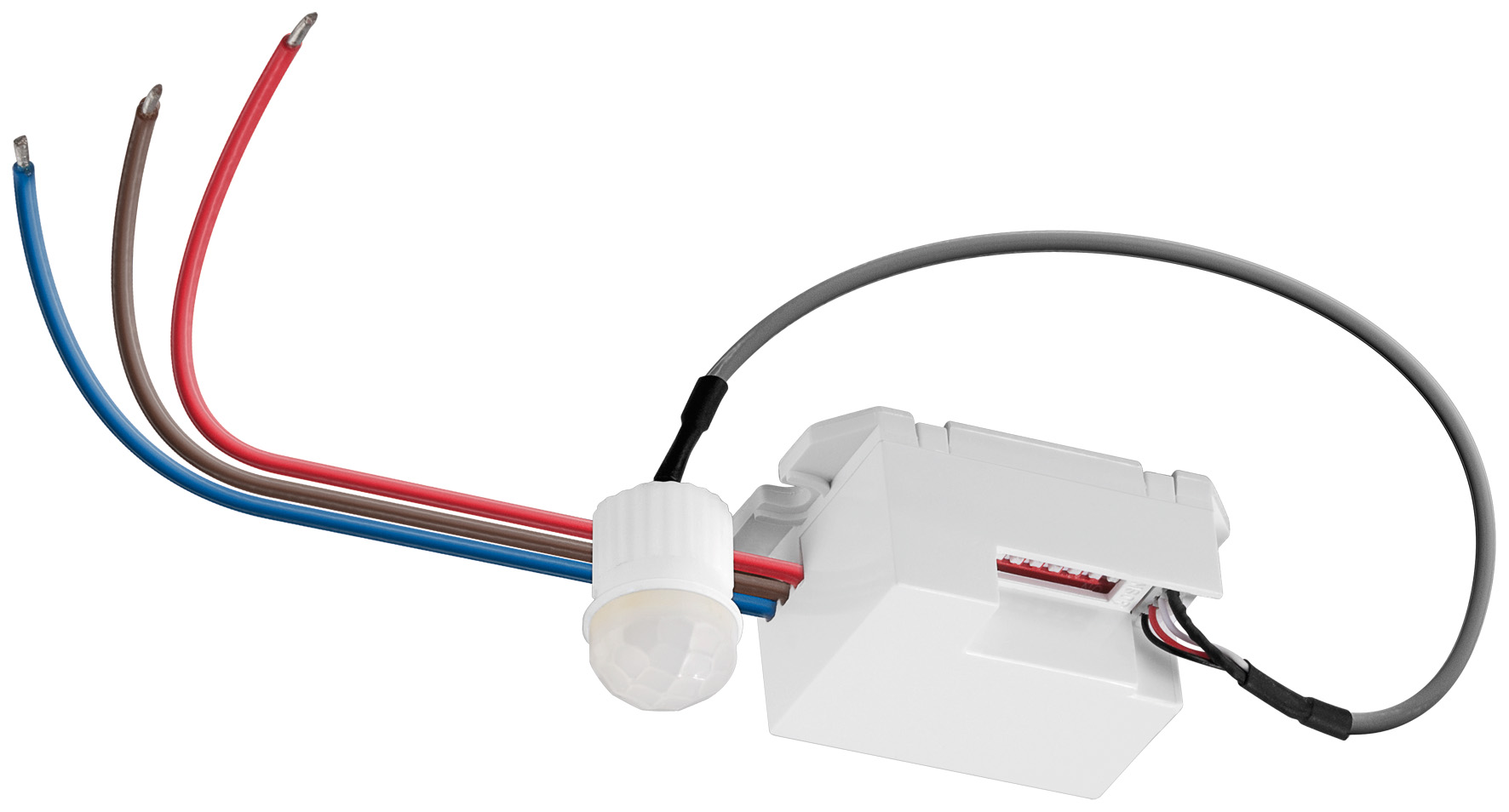 Modernistisk Mini PIR-sensor til indbygning, LED ready 230V | Elektronik DP79