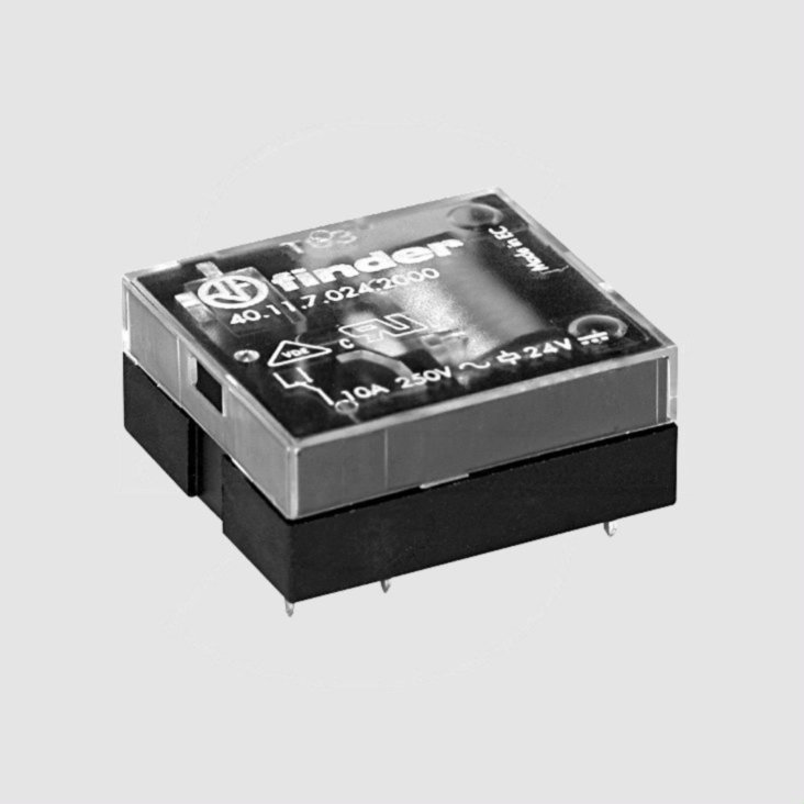 Relay SPDT 24V 10A 1200R Horizontal | Elektronik Lavpris Aps