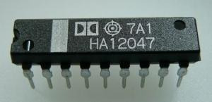 HA12047 Noise Reduction Circuit - Dolby B,AV 20,5dB,THD .3%,SNR 64dB DIP-18