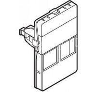 Dataudtag for 2x Keystone RJ45 1.5 modul, hvid